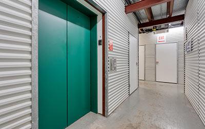 Convenient elevator access for upper level units.