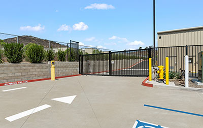 State of the art self-access gate system.